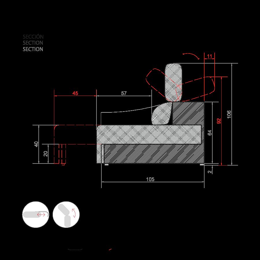 medidas sofa soul