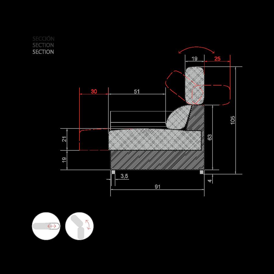medidas sofa frank