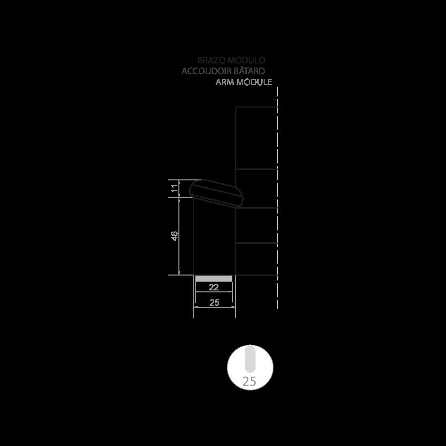 medida chaise longue frank