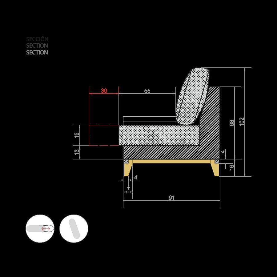 medidas sofa emile